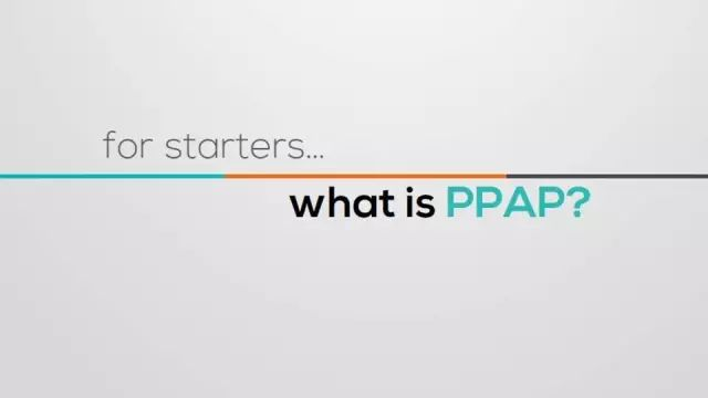 一篇文章看懂PPAP
